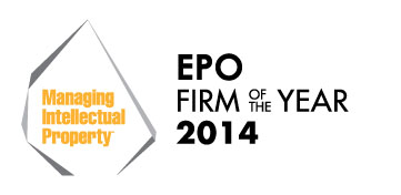 MIP Award Logo - EPO Firm of the Year - 2014